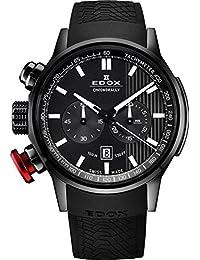 Men's 10302 37N GIN Chronorally Analog Display Swiss Quartz Black Watch