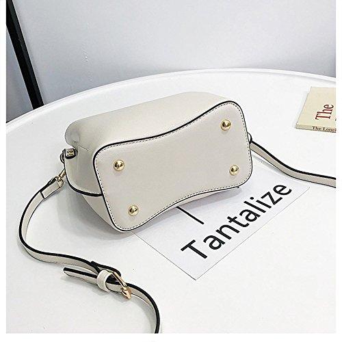Simple Seau Mode Soft Pour Crossbody White PU Femmes Couleur KING MIMI Les Petite Cuir Pure Type Épaule R7c1UWExwq