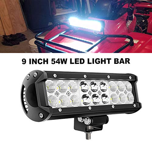 - QuakeWorld Aluminum Housing 9Inch Offroad Led Light Bar DOT Boat Led Light Bar Spot Flood Combo 54W 9Inch 1PCS Black