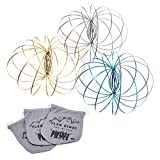 Kinetic 3D Flow Rings made from High Grade Stainless Steel (3 Pack Multi Colored)