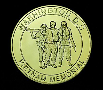 Vietnam War Memorial Gold Coin (Memorial Coin Gold)