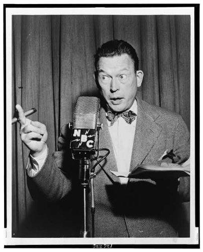 Photo: 1948 Fred Allen John Florence Sullivan Nbc radio photo, Radio Broadcasting