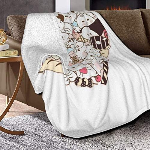 Couverture en polaire - Motif dessin animé - Ultra doux et moelleux - Couverture polaire pour canapé, lit et salon - 127 x 101,6 cm