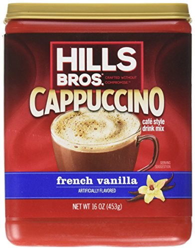 Hills Bros Cappuccino, French Vanilla, 16 Ounce (Pack of 6) by Hills Bros