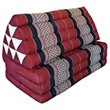 triangular pillow with mattress attached in three layers - can be used folded or unfolded, as seen on the fotos (82318)