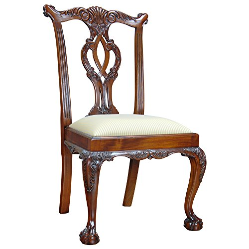Niagara Furniture PAIR of Mahogany Dining Room Chairs or Side Chairs With Ability to Change Seat Fabric Sold as a Pair Expertly Crafted With Mahogany Wood by NIAGARA FURNITURE NDRSC037