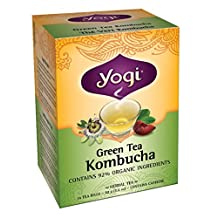 Yogi Tea, Green Tea Kombucha, 16 Tea Bags (Pack of 6)