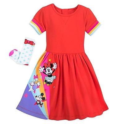 DISNEY MICKEY MOUSE GIRLS 2 PIECE JUMPER DRESS SIZE 4 5 6 6X NEW!