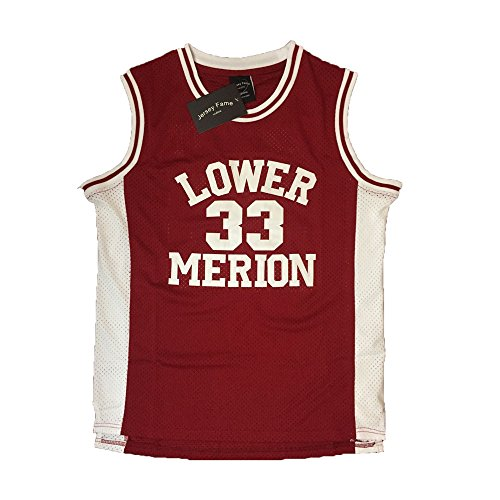 Kobe Bryant Usa Basketball Jersey - AIFFEE Men's Basketball Number 33 Bryant Basketball Jersey Red Stitched S-3XL (M)