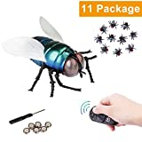 NiGHT LiONS TECH RC Infrared Remote Control Fake the flies, Novelty Fake Plastic the flies Look Real Prank Toys Insects Joke Scary Trick toy Party April Fools' Day Gift for Kids/Friends Cat dog Toy