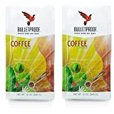 Bulletproof Ground Coffee 12oz (2 pack) + Bonus Uben Airtight Refillable container to ensure complete freshness. Full bag of coffee fits in wide mouth container