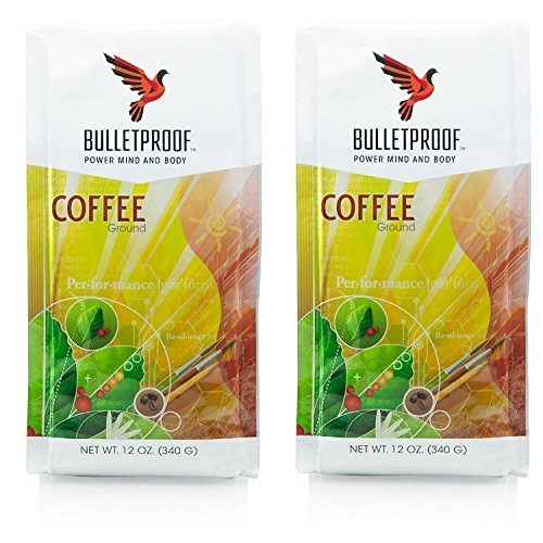 Bulletproof Settle Coffee 12oz (2 pack) + Bonus Uben Airtight Refillable container to ensure complete freshness. Full bag of coffee fits in inclusive mouth container