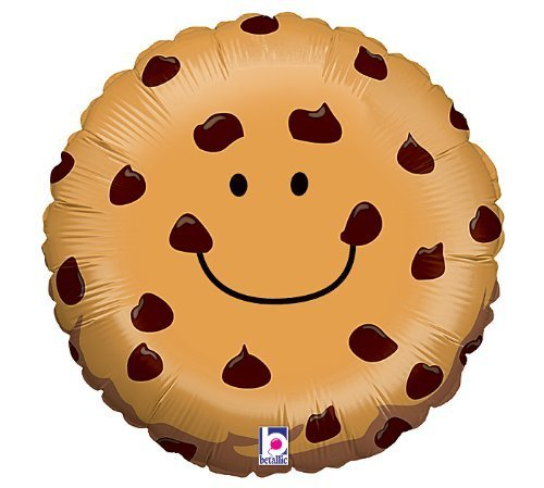 Adorable Chocolate Chip Cookie 21quot Mylar Balloon