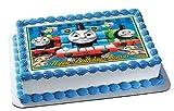 Thomas Train (Nr2) - Edible Cake Topper - 10'' x 16'' (1/2 sheet) rectangular