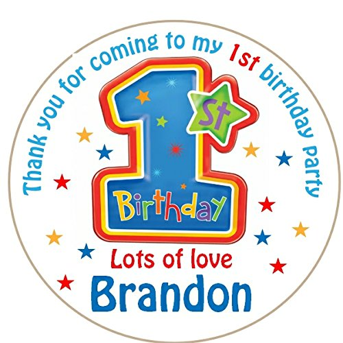 Personalised Stickers For 1St Birthday