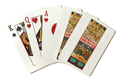 (Buffalo Ranch Real Wild West Vintage Poster USA (Playing Card Deck - 52 Card Poker Size with Jokers))