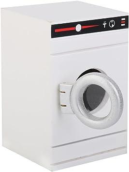 Amazon.es: 1/12 Lavadora Blanca en Miniatura Mueble Accesorio ...
