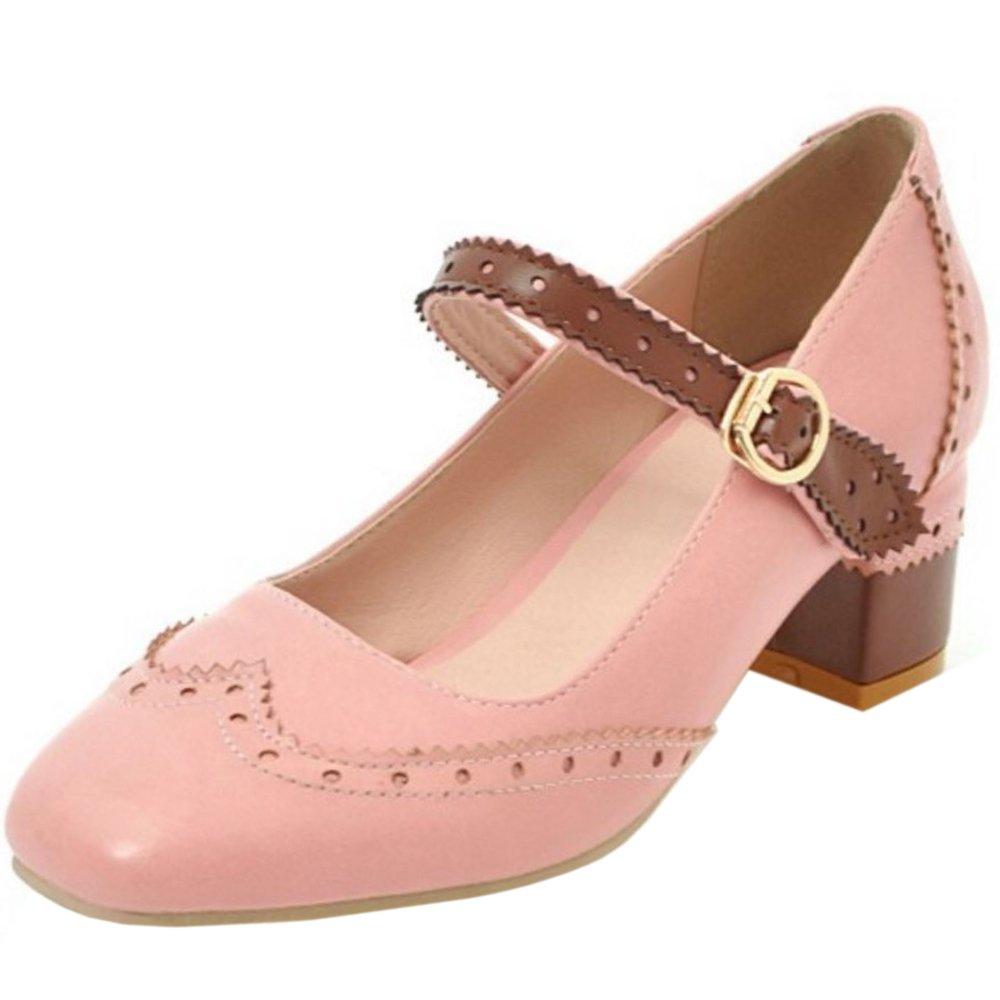 Zanpa Damen Klassische Schuhe mit Absatz Niedrige38 EU / 38 AS / 24 CM|Pink