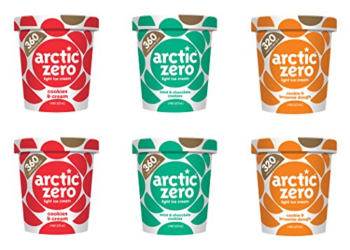 Mix and Match 6-pack, Cookies & Cream, Mint & Chocolate Cookies, and Cookie & Brownie Dough by Arctic Zero