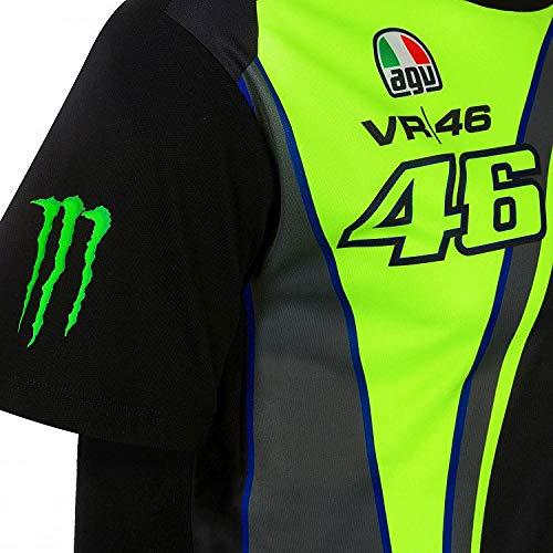 Noir//Jaune VR46 Officiel Valentino Rossi Monza Rallye R/éplique T-Shirt