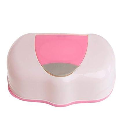 Organizador de pañales de plástico para pañales de bebé, dispensador de pañales rosa rosa: Amazon.es: Bebé