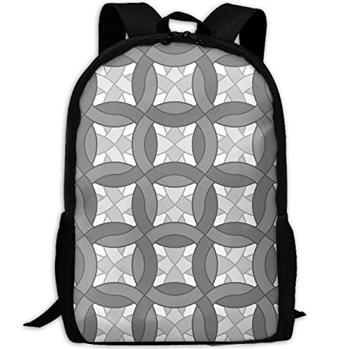 Unisex Chainmail - Chainmail Double Grey Fabric (3409) School Rucksack College Bookbag Unisex Travel Backpack Laptop Bag