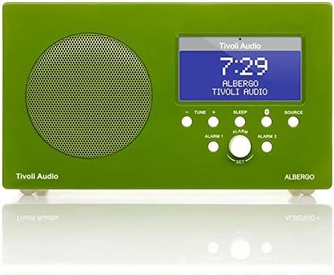 Tivoli Audio Albergo Clock Radio with Bluetooth, Gloss Green White OOS