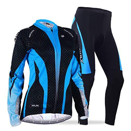 Women Long Sleeve Thermal Fleece Cycling Jerseys Sets Pants Clothing Bike Jacket Sets