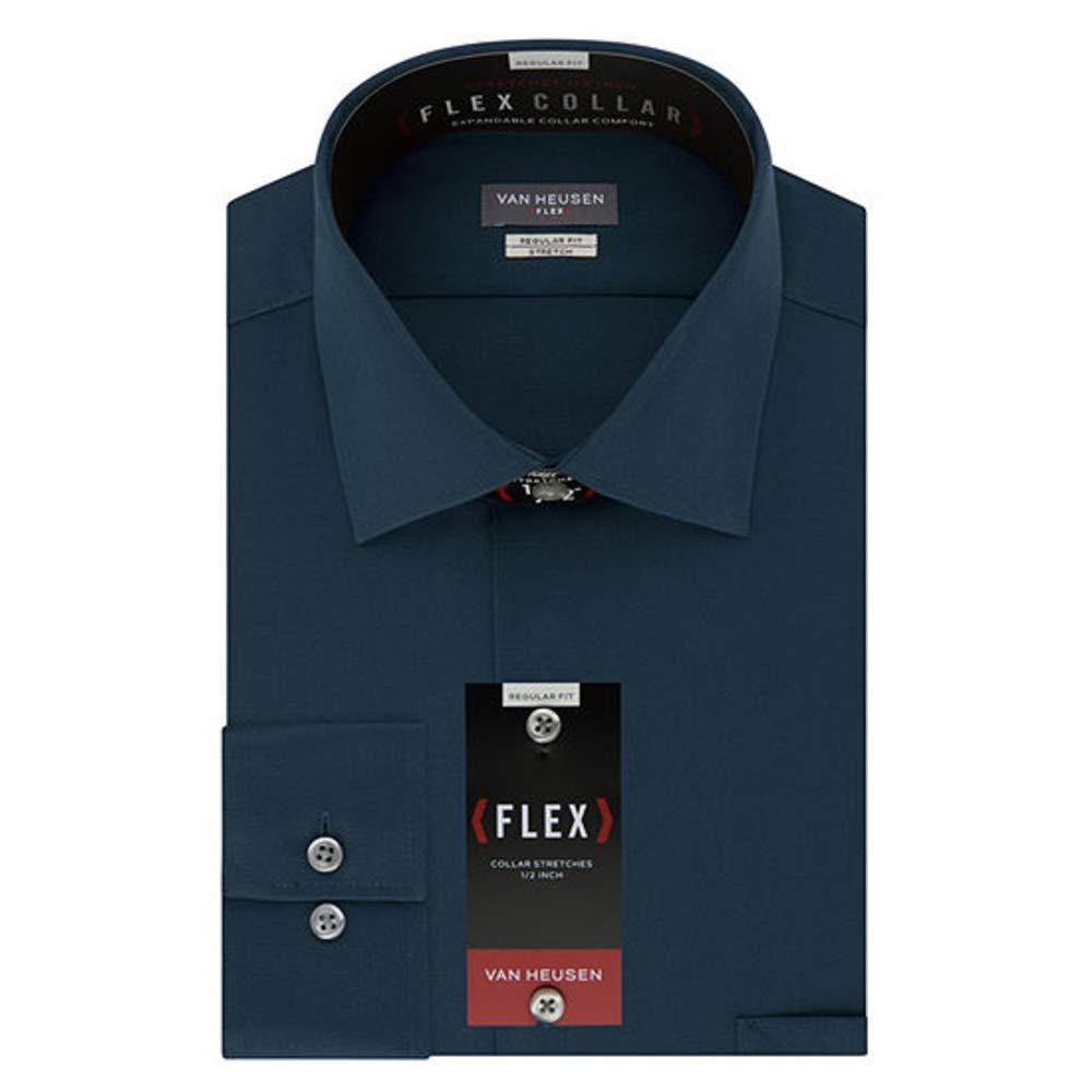 Bleu Ciel 44 cm cou 89 cm- 91 cm hommeches Van Heusen Big and Robe Shirts Tall Fit Flex Solid Chemise habillée Homme