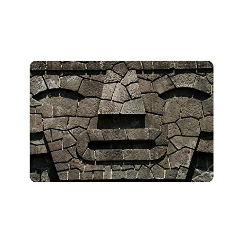 Special Design Custom stone face shape Personalized Non-Slip Machine Washable Bathroom Indoor/Outdoor Doormat 23.6 by 15.7 - Tell Face Your How Shape To