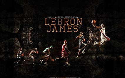 Amazoncom Xxw Artwork Lebron James Poster Kingdunklittle