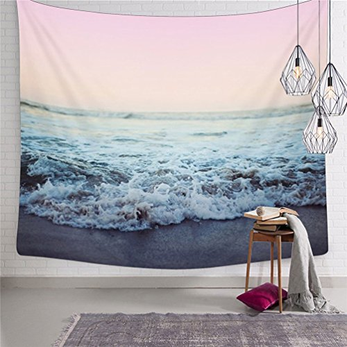 Tapestry Wall Hanging Ocean Waves Tapestry Great Wave Tapestry Landscape Wall Tapestry Bedspread Tapestries Wall Art for Bedroom Dorm Decor (Landscape Tapestry)