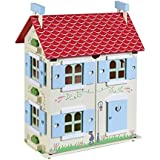 Primrose Cottage - Children's Wooden Dolls House, includes Furniture and Dolls