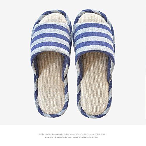 LaxBa Lhiver au chaud, lhiver Chaussons Chaussons moelleux Accueil chaleureux en hiver, chaussures antiglisse Chambre chaussons bleu marine29-31 (seule longueur 22cm)
