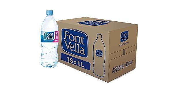 Font Vella - Agua Mineral Natural - Caja 15 x 1L: Amazon.es: Alimentación y bebidas