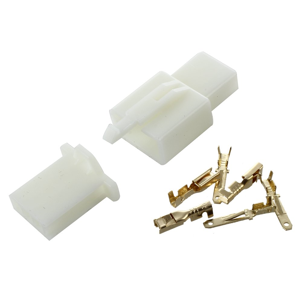 Kit connettore + terminale, 2,8 mm, 3 vie, per moto e auto sunluxy mall RI33