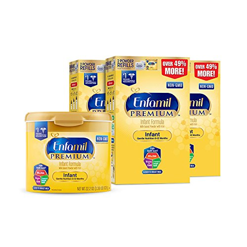 Price comparison product image Enfamil PREMIUM Non-GMO Infant Formula, Powder 121.8 Ounce