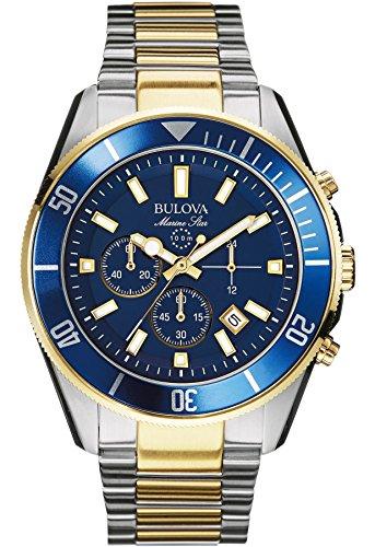 Bulova 98B230 Mens Marine Star Blue Steel Chronograph (Blue Star Marine)