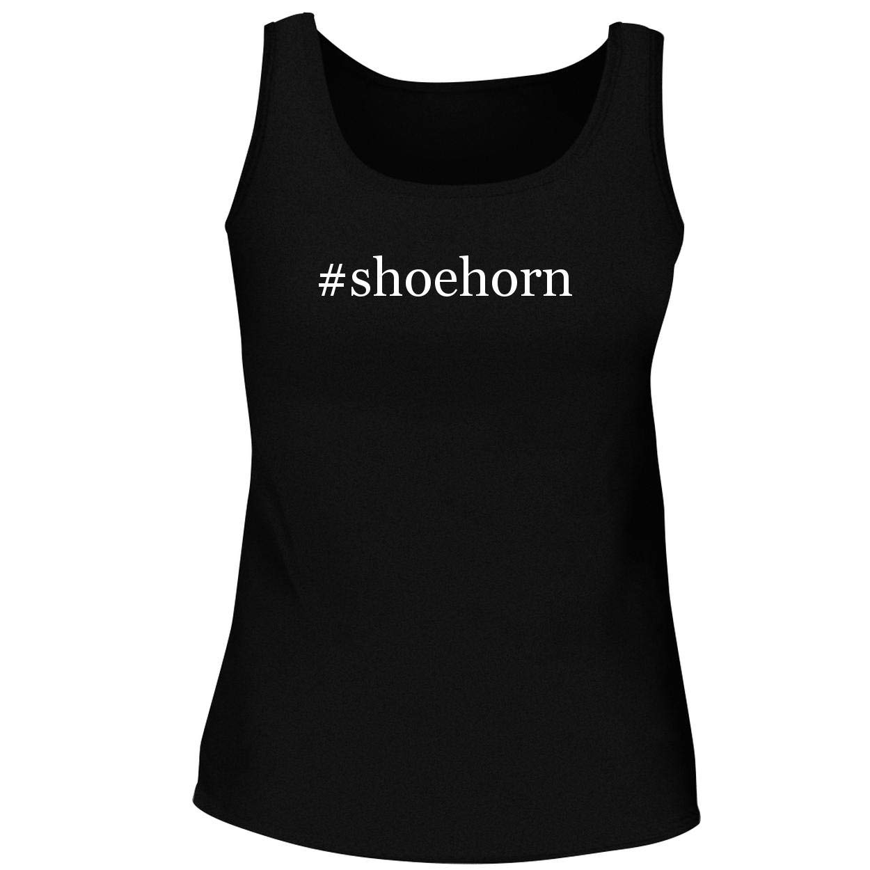 BH Cool Designs #Shoehorn - Cute Women's Graphic Tank Top, Black, Large