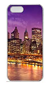 Brian114 iPhone 5S Case - City New York 7 Back Case Cover for iPhone 5 5S Hard Clear Cases