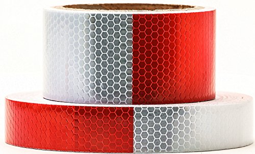 Red White Honeycomb reflective tape 0.5