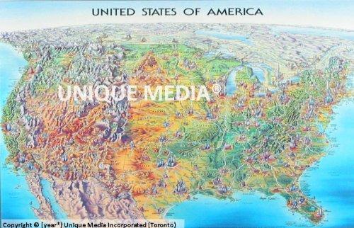 Usa Laminated Map