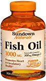Sundown Fish Oil 1000 mg Softgels Cholesterol Free 200 Soft Gels (Pack of 8)