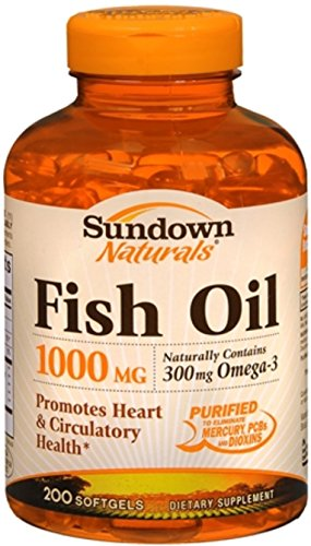 Sundown Fish Oil 1000 mg Softgels Cholesterol Free 200 Soft Gels (Pack of 12) by SUNDOWN VIT