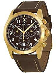 Swiss Army 241647 Mens Infantry Brown Dial Brown Leather Strap Chronograph Watch