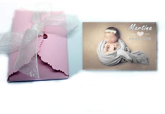 Imanes personalizados con foto, detalles de bautizo 50 unidades 6x7 cm: Amazon.es: Bebé