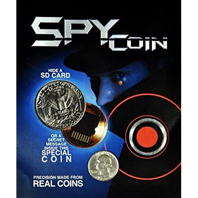 Spy Coin -Micro Sd Card Secret Compartment Quarter: Toys & Games