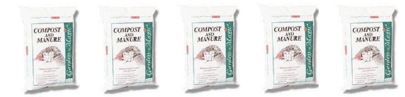 Michigan Peat 5240 Garden Magic Compost and Manure, 40-Pound (5-Pack)