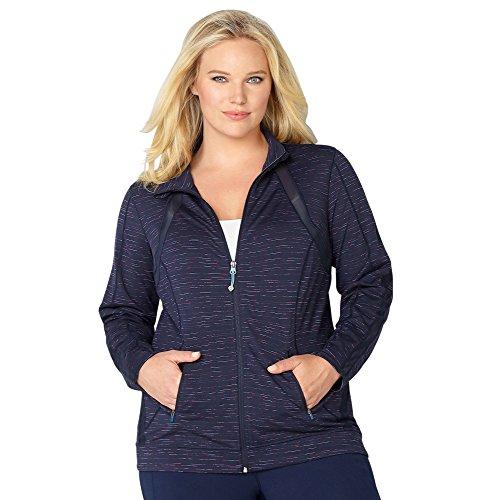 Navy Blue Ladies Mesh Jacket - 8