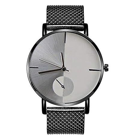 Slri SIridescentZB Reloj Hombre Mujer Cuadrado de Color Degradado Moderno Banda de Malla de Cuarzo analógico